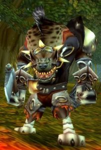 Hogger, a Gnoll from the Riverpaw Pack of World of Warcraft.