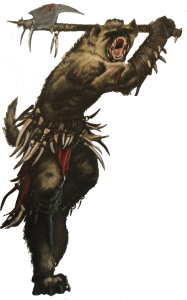A gnoll from the Pathfinder RPG Monster Codex